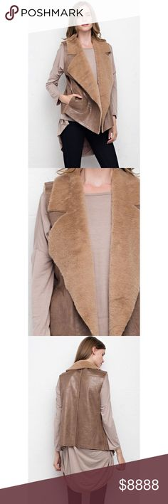 -NEW ARRIVAL- Chic Clique Beige Faux Leather Vest The in-crowd's got nothing on the Chic Clique Beige Faux Leather Vest! Featuring open front with pockets, non-sheer and medium weight to stay warm this Fall season! 90% Polyester 10% Resin. . If you would like to make an offer, please use the OFFER BUTTON. {10% discount on all 2+ orders} . . FOLLOW US✌️ Insta : shop.likenarly Facebook: likenarly Website : likeNarly.com likeNarly Jackets & Coats Vests