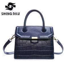 37.99$  Watch now - http://ai7cv.worlditems.win/all/product.php?id=32787544260 - Fashion Stone handbag shengdilu brand 2017 new women genuine leather tote shoulder Messenger bag free Shipping