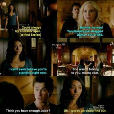 """#TVD 7x10 """"Hell Is Other People"""" - Damon, Bonnie and Caroline"""