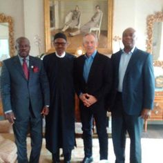 Its Kemi's Blog.: Buhari meets with Tony Blair and others in the UK....