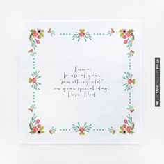 the audrey hanky  custom hanky | the wedding chicks | CHECK OUT MORE IDEAS AT WEDDINGPINS.NET | #weddings #weddinggear #weddingshopping #shopping