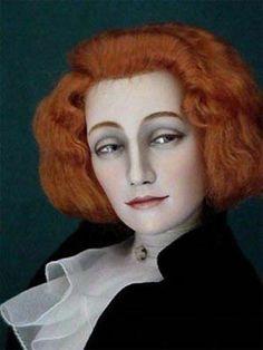 Фрагмент портрета З. Н. Гиппиус работы Л. С. Бакста, 1906 Kukinova art doll