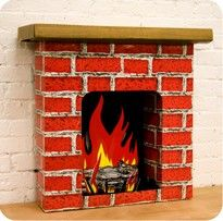 Discover easy and unique ideas for home, decor, beauty, food, kids etc. Try the best inspiration from a list of ideas which suits your requirement. Fireplace Art, Cardboard Fireplace, Decorative Fireplace, Fireplaces, Wood Crafts, Diy And Crafts, Arts And Crafts, Paper Crafts, Nutcracker Decor