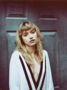 Imogen Poots. I am so in love with her hair, especially the bangs.