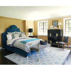Our plush velvet Woodhouse Queen Bed is a master bedroom must-have!