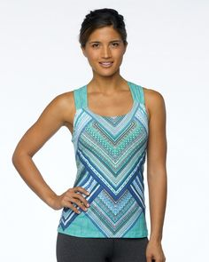 2015 Prana Activewear Phoebe Top in Blue Pixie at B-Fly Activewear: http://www.bflyactivewear.com