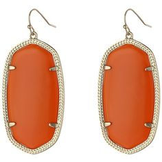 Kendra Scott Danielle Earrings (Gold/Opaque Orange Glass) Earring ($60) ❤ liked on Polyvore featuring jewelry, earrings, french hook earrings, gold jewellery, glass earrings, gold earrings and 14 karat gold jewelry
