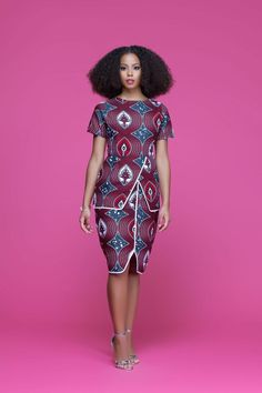 AFRICAN PRINT CALLA MIDI DRESS #AfricanFashion