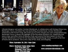 Hope to see you there! xo Carolyn