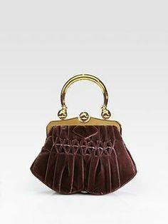 Miu Miu Velvet Pleated Frame Bag on shopstyle.com