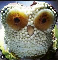 Owl cake pti-beur , milk,braziliam nut, pineapple,white chocolates flakes, cacao, chocolate