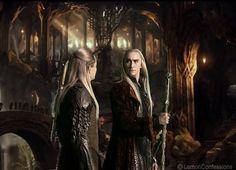 Legolas and Thranduil look like Vanyar not Atani in the movies. So fabulous Lee Pace Thranduil, Legolas And Thranduil, Tauriel, Kili Hobbit, The Hobbit, Mirkwood Elves, Misty Eyes, Fanart, Desolation Of Smaug