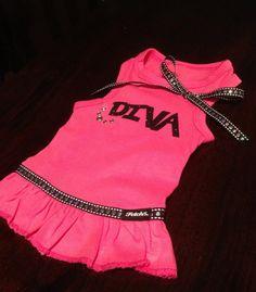 Glitter Diva Dog Dress by FetchDogFashions on Etsy, $42.99