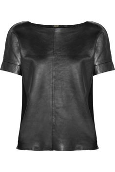 We can't stop thinking about this leather MAJE top.  Would look stunning paired with hematite + silver chains!
