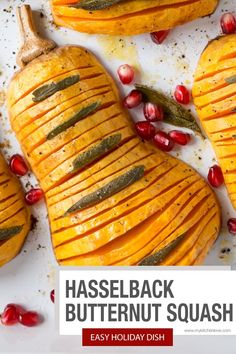 Deliciously easy butternut squash recipe! This Hasselback Butternut Squash is vegan, stunning, and perfect for the holidays. Fall Recipes, Beef Recipes, Holiday Recipes, Vegan Recipes, Christmas Recipes, Vegan Side Dishes, Side Dish Recipes, Food Dishes, Food Food