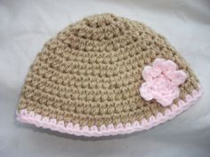 Easy Crochet Baby Hat | Easy Baby Beanie Crochet Hat Pattern | Hearts and Crafts