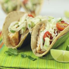 A lighter take on taco night. Now you don't need to think twice about how many tacos you eat!