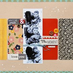 Love the photo strip and the rectangles in the back.
