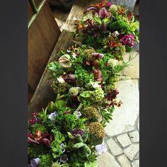 渋すぎますかねー  でも大好き  #flower #arrangement  #antique