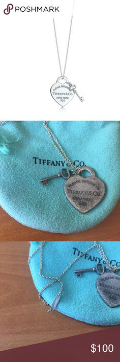 """Tiffany """"If Found Return To"""" Necklace Tiffany """"If Found Return To"""" Necklace - retail $175. This is 4 years old, been worn a handful of times but needs to be polished. If you bring into Tiffany they'll clean it up for free (or any jeweler). Tarnish reflected in price Tiffany & Co. Jewelry Necklaces"""