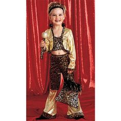 Leopard Diva Just what every mom dreams of — seeing their precious toddler dressed as a washed-up Vegas lounge singer! From the bare midriff to the head-to-toe leopard print and gold lamé, there's nothing sweet or kid-friendly about this Leopard Diva Child Costume. Yikes!