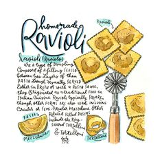 Ravioli Recipe Illustration