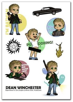 "Dean cartoon (""Bring me some pie!"")"
