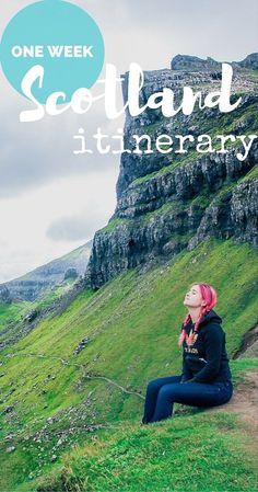 Suggested one week Scotland itinerary. From Edinburgh to Isle of Skye and back via Glasgow including things to see in Scotland, and Isle of Skye trip.