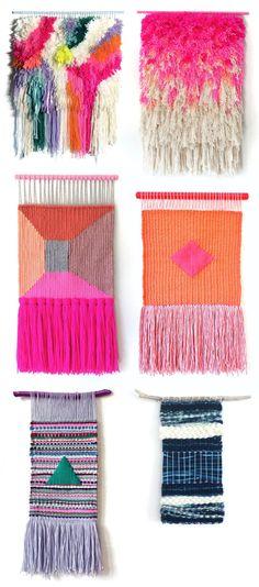 A CUP OF JO: Woven wall hangings ★ Epinglé par le site de fournitures de loisirs créatifs Do It Yourself https://la-petite-epicerie.fr/fr/131-tricot-et-crochet-materiel-creatif ★