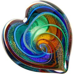 """Glass Heart Paperweight"" by Glass Eye Studio"