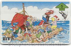 BTG620 - BT Phonecard - Asterix (4) - Pirate's Shipwreck Asterix E Obelix, Photo Scan, Shipwreck, Telephone, Pirates, Sci Fi, Comic, Fantasy, Cards