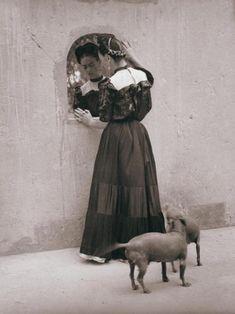 Frida Kahlo in the mirror by Lola Alvarez Bravo Coyoacan, Mexico, c. 1942