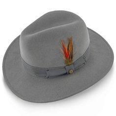 9b7b6a1c3ec68 Empire - Walrus Hats Grey Wool Felt Fedora Hat - H7001
