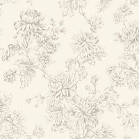 Home of Colour Clara Classic Wallpaper - Cream