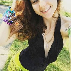 @owlyholly looking adorable in the Deep Plunge Bodysuit in black!  Thank you so much for the picture, I hope you had a blast @ #northcoastmusicfestival this weekend!  ✌  #hayleadelehmc #deepplunge #bodysuit #velvet #festival #festivalfashion #adorable #thesweetest #edm #bass #plur #love #spreadtheplur #hayleadelehandmadecreations