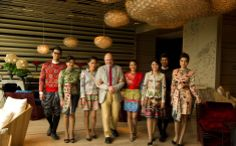 At Sofitel So Bangkok, the staff wears boldly coloured uniforms by Christian Lacroix