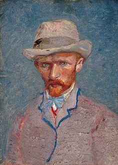Vincent van Gogh, Self-Portrait with Felt Hat, 1887 // pin-dog