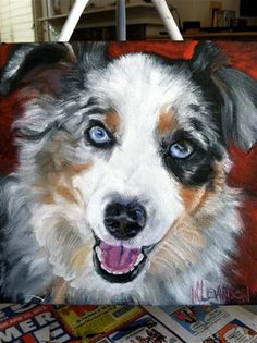 "Daily Paintworks - ""Met At The Dog Park"" - Original Fine Art for Sale - © Nancy Levinson"