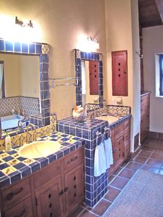 Spanish Hacienda Bathroom. OMG this looks just like my grandma's vacation house
