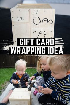 What a great idea for Father's Day! A Gift Card Crate- this would be too fun to watch them break into. Diy Gifts For Mom, Diy Father's Day Gifts, Father's Day Diy, Easy Gifts, Fathers Day Gifts, Modern Crafts, Creative Crafts, Free Gift Cards, Diy Cards