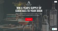 Win a year's supply of cocktails straight to your door! Gatsby Party, Party Ideas, Gift Ideas, Cocktails, Drinks, Enter To Win, Leg Tattoos, Things To Know, Competition