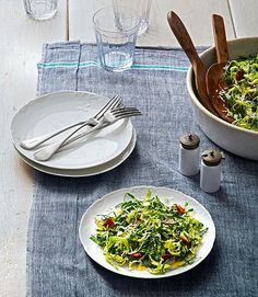 Collard and Brussels sprouts salad