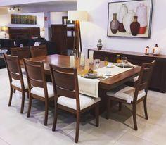 Comedor Mod Albardon - Elaborado con Madera de Tzalam, una madera mexicana elegante y muy resistente. Ezquerro Mobles. #comedores #madera #muebles #decoración