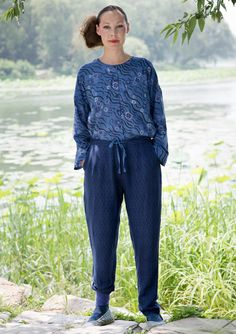 """""""Kyoto"""" slacks in linen/rayon – Cotton/modal jersey – GUDRUN SJÖDÉN – Webshop, mail order and boutiques 