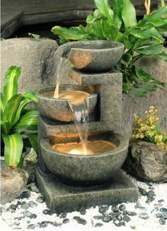 Check out these Solar Water Fountain in garden ideas and bring a refreshing look to your backyard or front yard. Water fountain design, water fountain design, diy water fountain, backyard water fountain, front yard water fountain