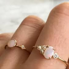 Risultati immagini per Moonstone & Opal Ring.