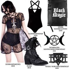 Welcome to Attitude Clothing, Your One Stop Shop For All Things Alternative Clothing & Alternative Fashion! We Offer Free UK Delivery On Orders Over Alternative Outfits, Alternative Mode, Alternative Fashion, Dark Fashion, Gothic Fashion, Pastell Goth Outfits, Punk Mode, Witchy Outfit, Gothic Outfits