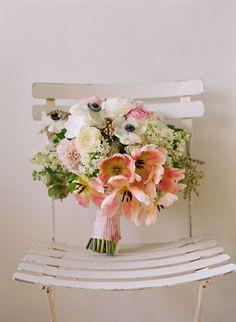 Bare Root Flora - bouquet of tulips, anemones, lilacs