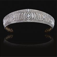 A Diamond Kokoshnik Tiara from the Collection of Vida, Viscountess Clive, Circa 1910.