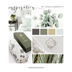 "Cristina Sanz on Instagram: ""Happy thursday loves!. Here's a little #moodboard inspiration for you! Fresh and calming vibes 🌿 . Feliz jueves amores! Os dejo mi tablero…"" #colorpallete #Moodboard #Green #fresh #inspiration #tableroInspiración"